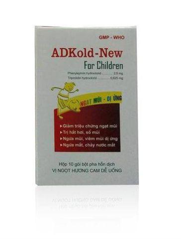 Thuốc cảm cúm ADKold-New hộp 10 gói x 1,5g