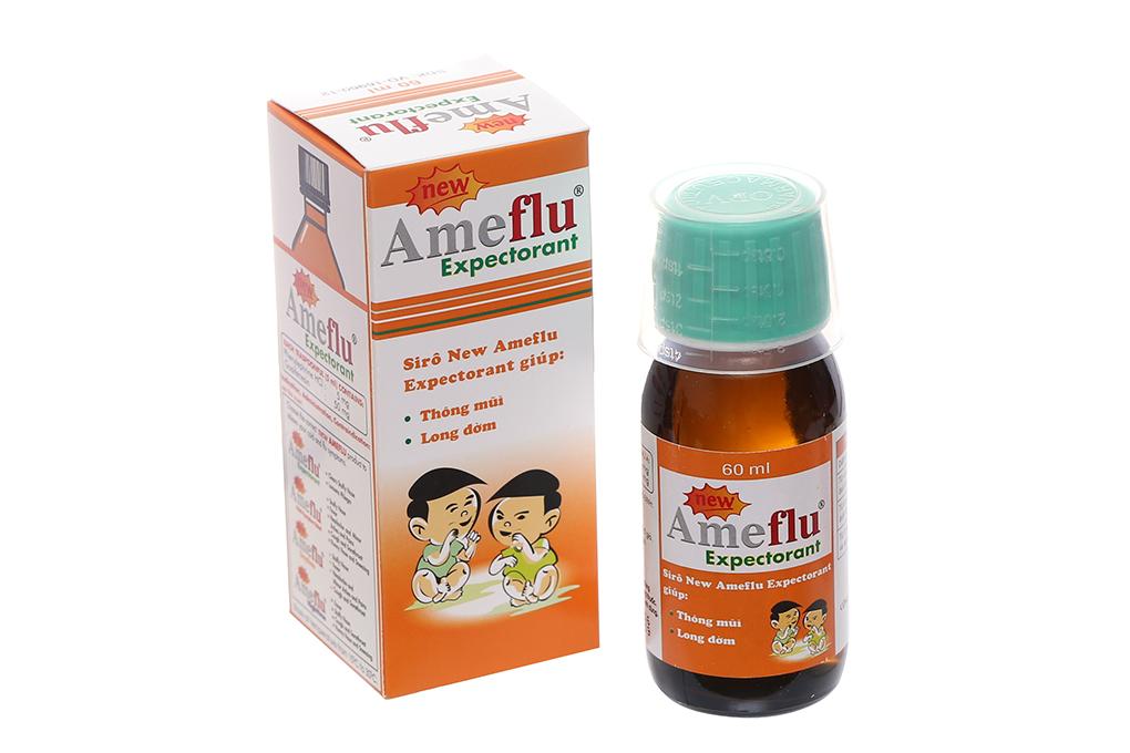 Siro thông mũi, long đờm Ameflu Expectorant hộp 1 chai 60 ml