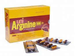 Viên uống giải độc gan Uni Arginine 500+ hộp 50 viên