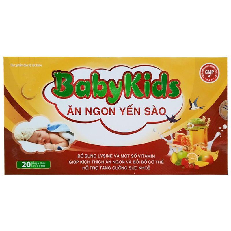 Siro giúp trẻ ăn ngon Ăn ngon yến sào BabyKids hộp 20 ống x 10ml