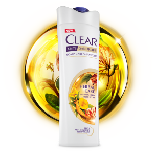 Dầu gội Clear Anti Dandruff Herbal Care chai 330ml