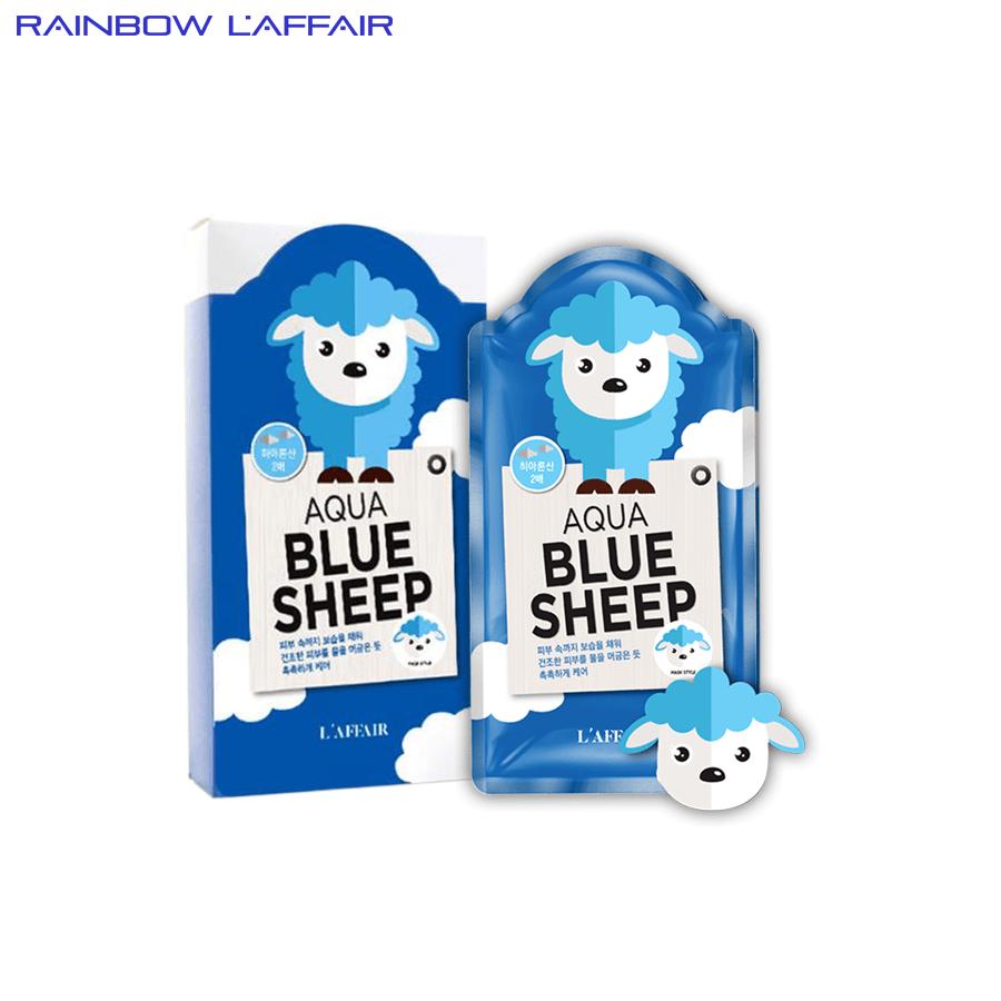 Mặt nạ dưỡng ẩm - chống lão hóa Rainbow L'affair Aqua Blue Sheep  hộp 10 miếng
