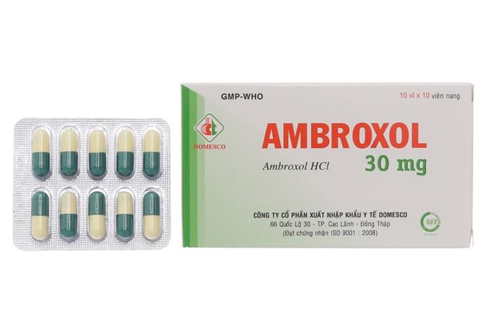 Thuốc tiêu chất nhầy đường hô hấp Ambroxol 30mg hộp 100 viên