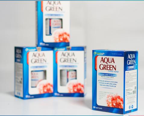 Viên uống bổ sung canxi AQUA GREEN Canxi Nano hộp 1 lọ 60 viên