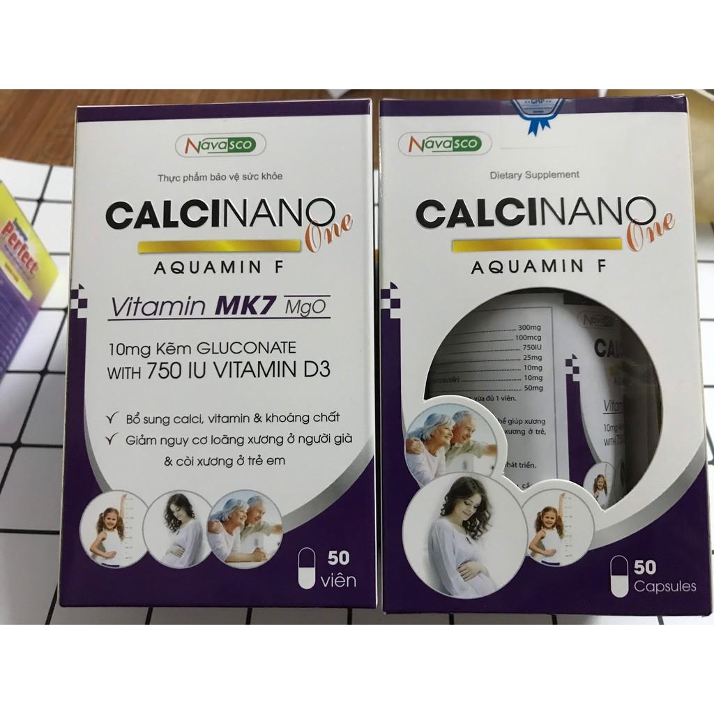 Thực phẩm bảo vệ sức khỏe Calci Nano One Aquamin F hộp 1 lọ 50 viên