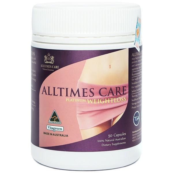 Viên uống giảm cân Allitimes Care Platinum Weightloss lọ 50 viên