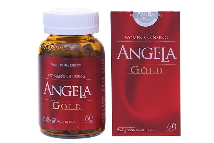 Viên uống duy trì sức khỏe, nội tiết tố nữ Sâm Angela Gold lọ 60 viên