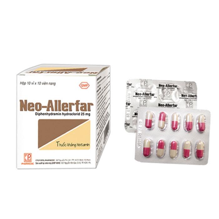 Thuốc chống dị ứng Neo - Allerfar (Pharmedic) hộp 100 viên
