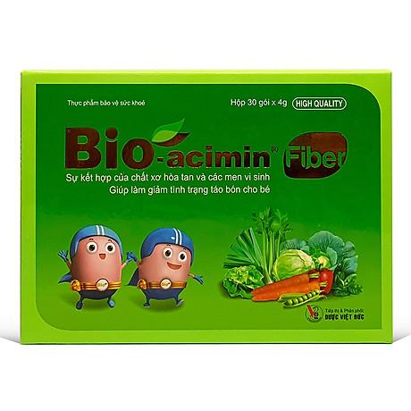 Men vi sinh Bio-acimin Fiber hộp 30 gói x 4g