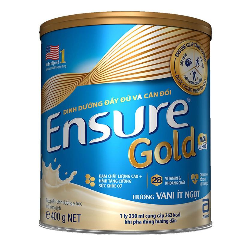 Sữa Abbott Ensure Gold (hương vani ít ngọt) hộp 400g