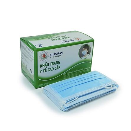 Khẩu Trang Y Tế Khánh An màu xanh hộp 50 cái