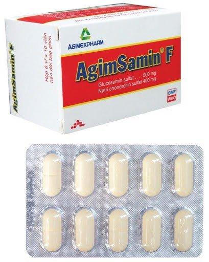 Thuốc điều trị thoái hóa khớp AgimSamin F hộp 60 viên