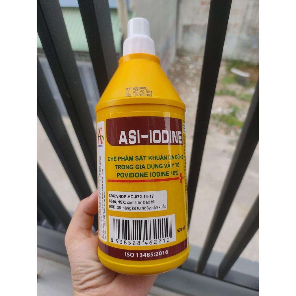 Dung dịch sát khuẩn ASI-IODINE  chai 500ml