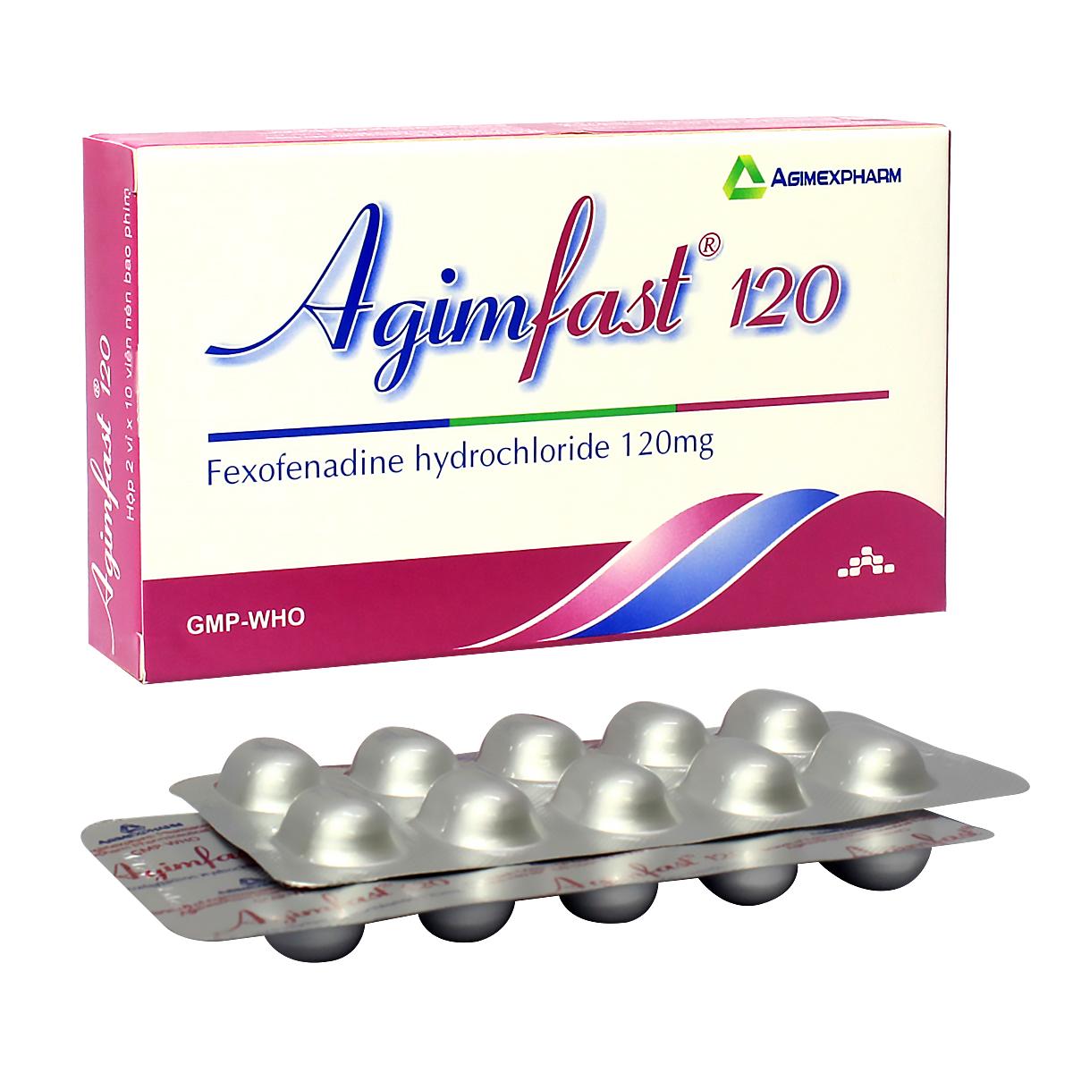 Thuốc chống dị ứng Agimfast 120mg hộp 20 viên
