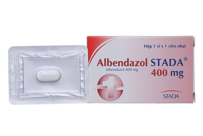 Thuốc tẩy giun, sán  Albendazol Stada 400mg hộp 1 viên