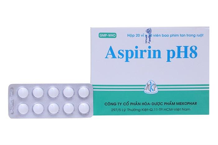 Thuốc giảm đau, kháng viêm Aspirin pH8 hộp 200 viên