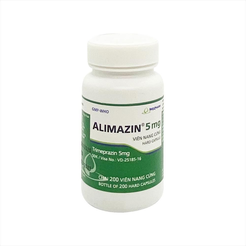 Thuốc chống dị ứng ALIMAZIN 5mg (Imexpharm) lọ 200 viên