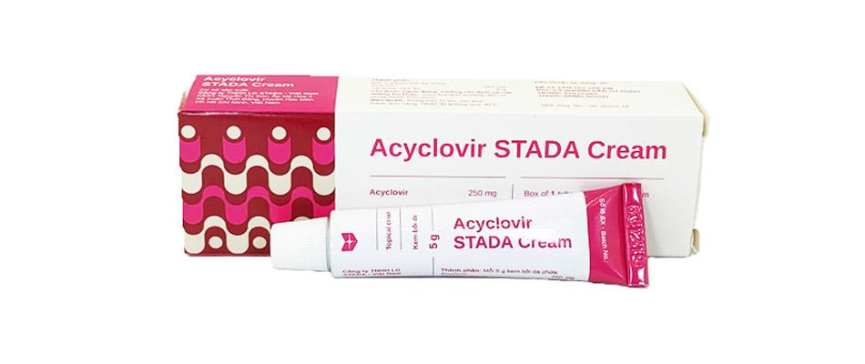 Thuốc bôi điều trị nhiễm virus Acyclovir STELLA Cream hộp 1 tuýp 5g