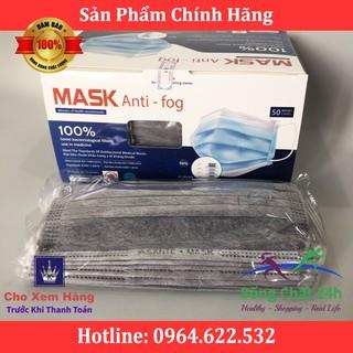 Khẩu trang 4 lớp Mask Anti-Fog (màu xám) hộp 50 cái