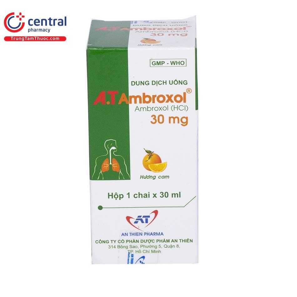 Thuốc ho, long đờm A.T Ambroxol 30Mg  hộp 1 chai 30ml