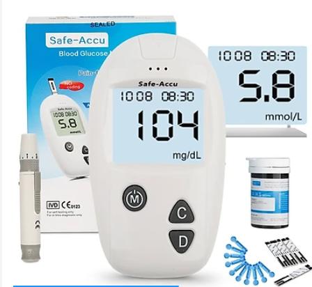 Máy đo đường huyết SAFE-ACCU SINOCARE hộp 1 cái