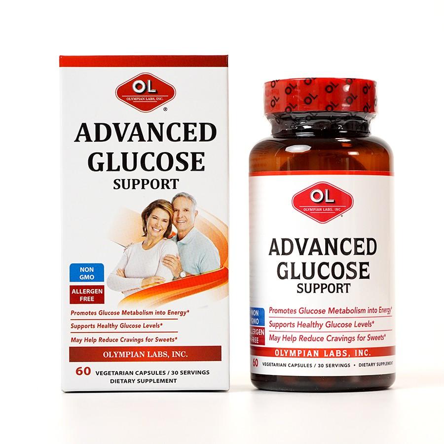 Viên uống hỗ trợ điều trị tiểu đường Advanced Glucose Support hộp 1 lọ 60 viên