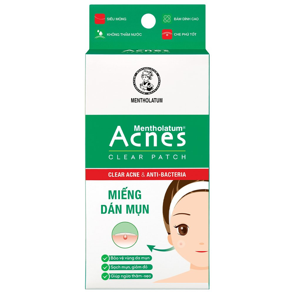 Miếng dán mụn  ACNES CLEAR PATCH hộp 24 miếng