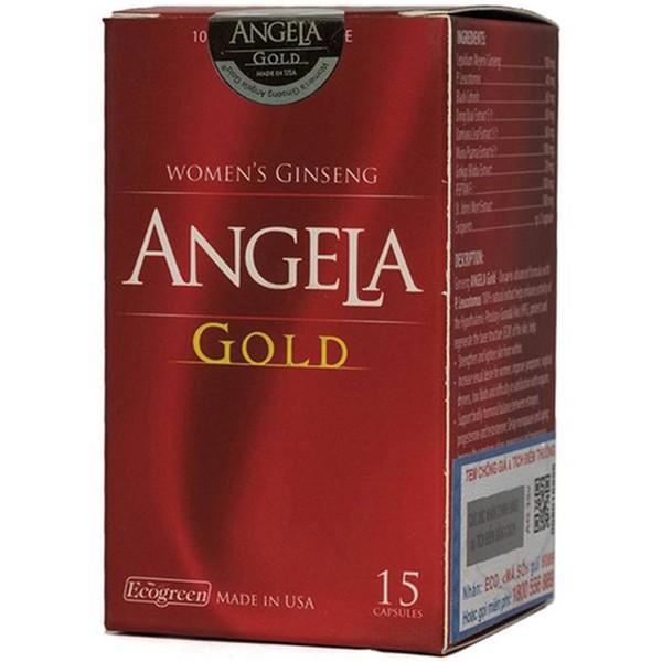 Viên uống cân bằng nội tiết tố nữ, giúp đẹp da Sâm Angela Gold hộp 1 lọ 15 viên