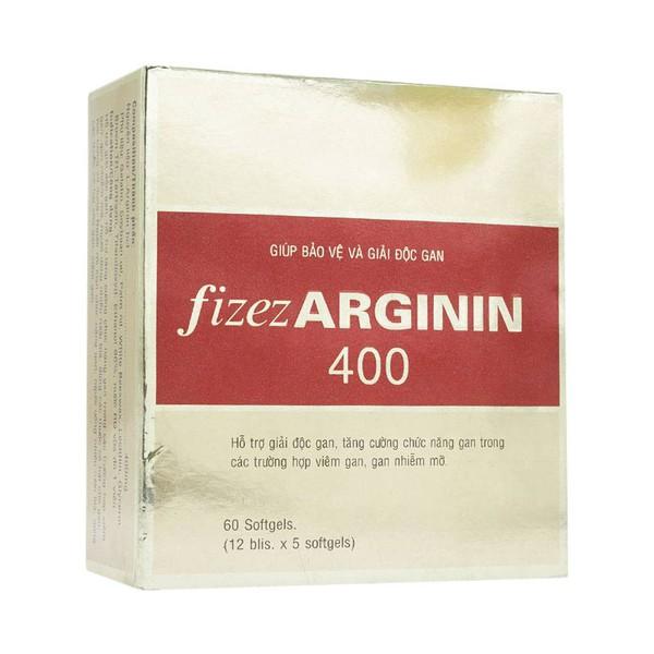 Viên uống cải thiện và tăng cường chức năng gan Fizer Arginin 400 hộp 60 viên