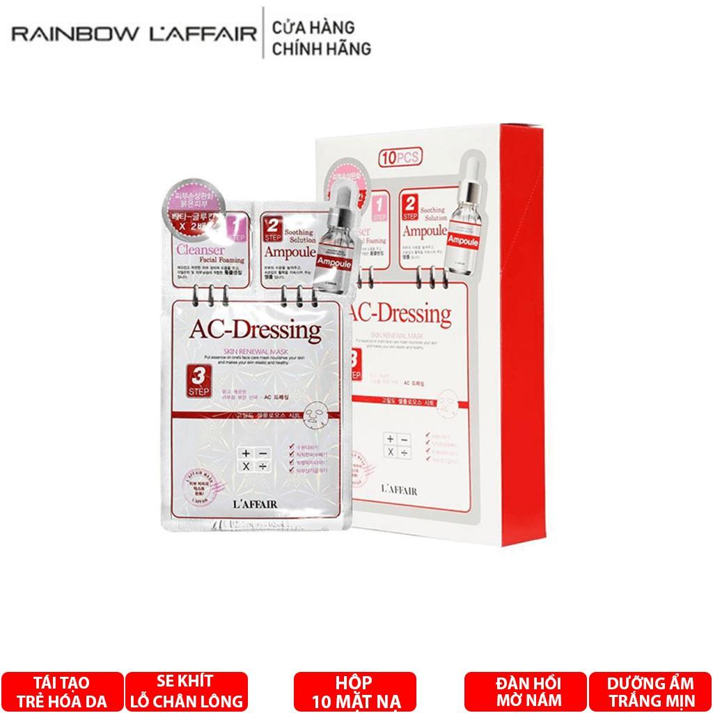 10combo mặt nạ cho da nhạy cảm 3 bước  Rainbow L'affair Ac-dressing hộp 10 combo