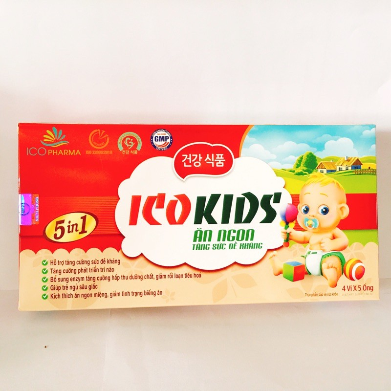 Dung dịch uống Ico Kids Ăn Ngon hộp 20 ống