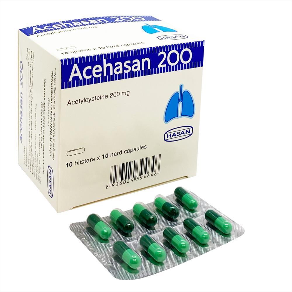 Thuốc long đờm Acehasan 200 hộp 100 viên