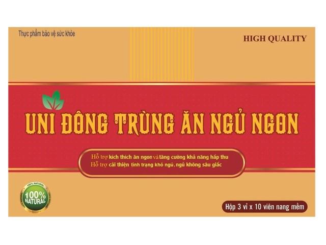 Viên uống bồi bổ cơ thể, tăng cường sức đề kháng Uni Đông Trùng Hạ Thảo Ăn Ngon hộp 30 viên