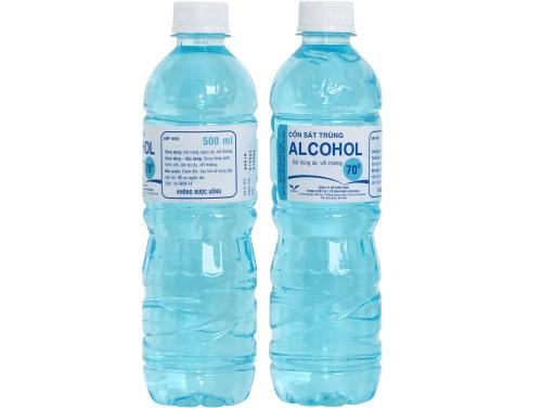 Cồn sát trùng ALCOHOL 70º BIDIPHAR chai 500ml