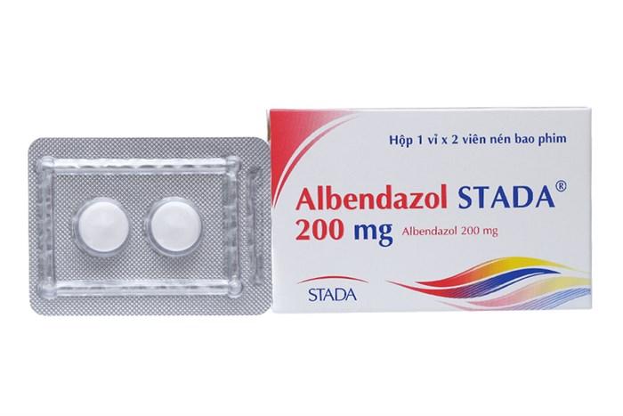 Thuốc trị giun sán Albendazol Stada 200mg hộp  2 viên