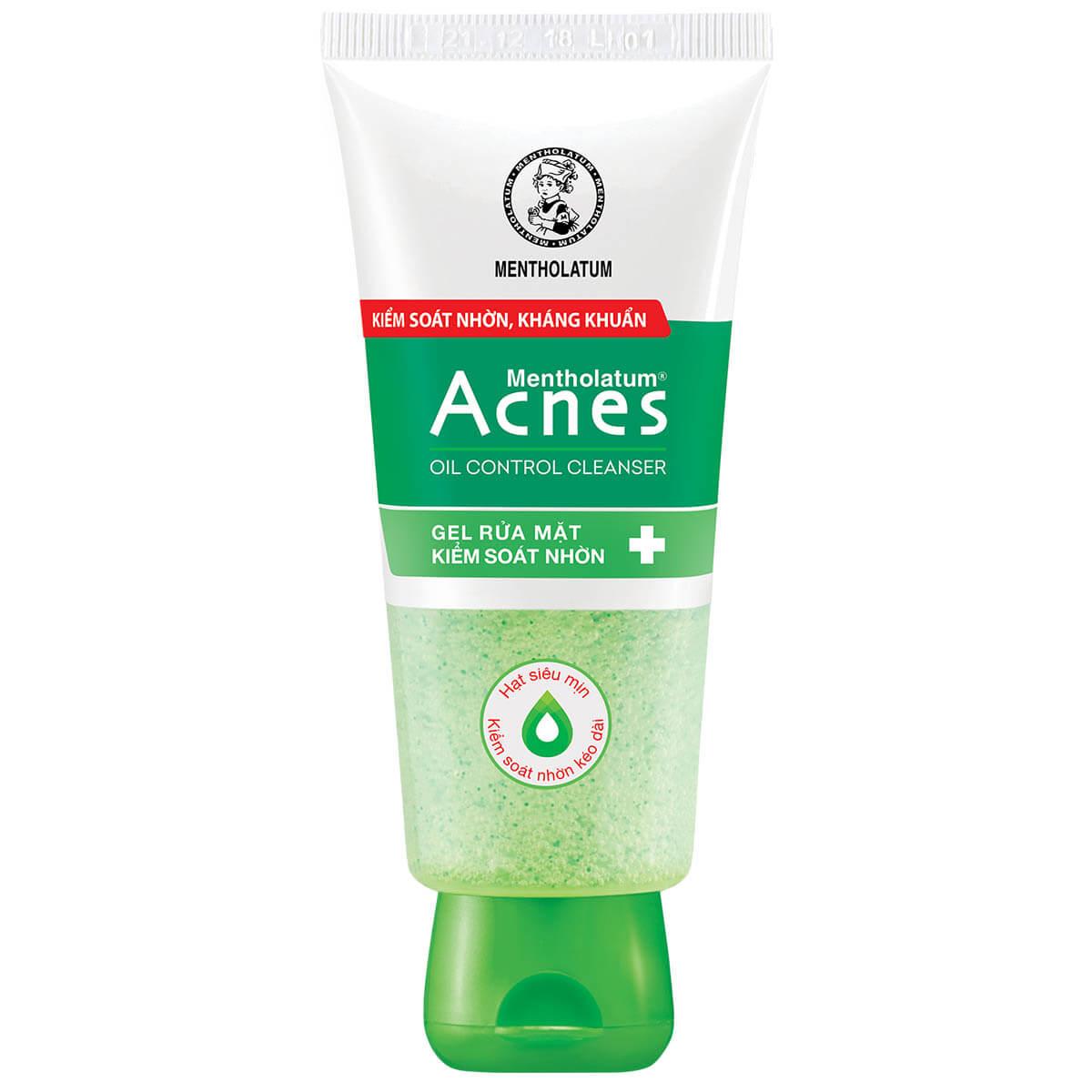 Gel rửa mặt kiểm soát nhờn Acnes Oil Control Cleanser tuýp 50g