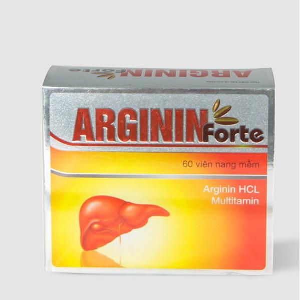 Viên uống hỗ trợ thanh nhiệt, giải độc gan ARGININ Forte  hộp 60 viên
