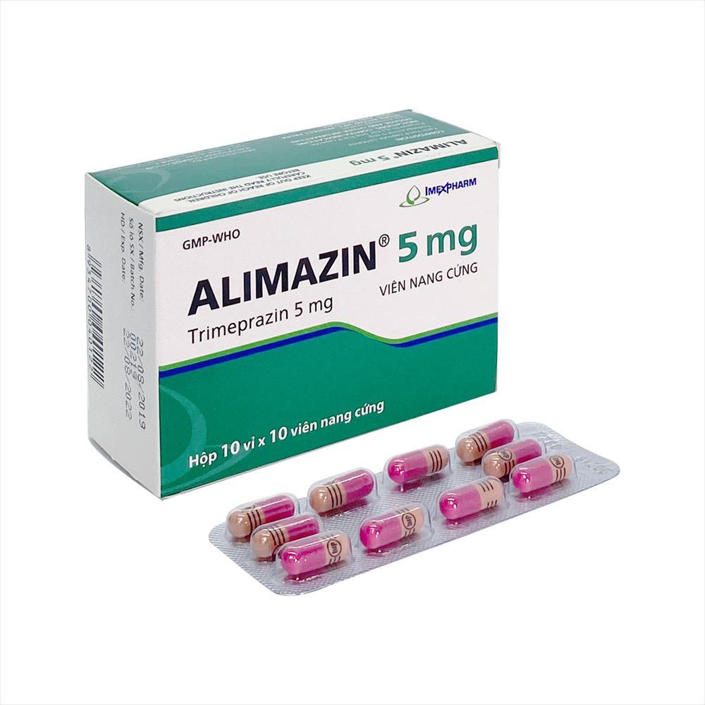 Thuốc chống dị ứng ALIMAZIN 5mg (Imexpharm) hộp 100 viên