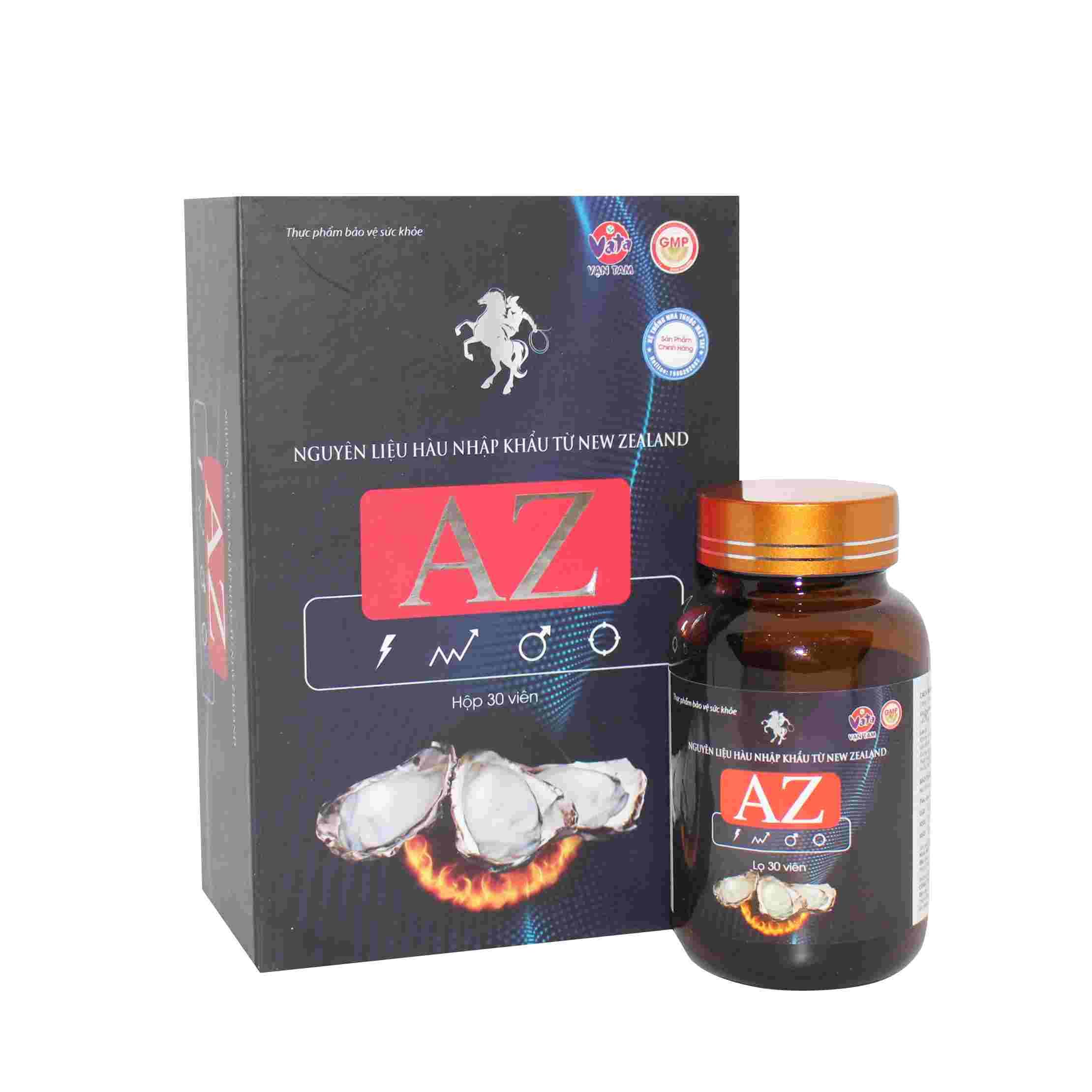 Thực phẩm bảo vệ sức khỏe Hàu Biển A-Z hộp 1 lọ 30 viên