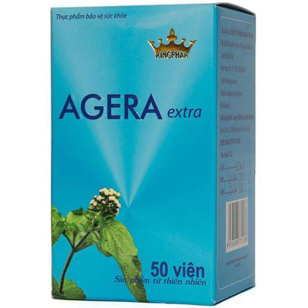 Viên uống hỗ trợ điều trị viêm mũi, viêm xoang Agera Extra hộp lọ 50 viên