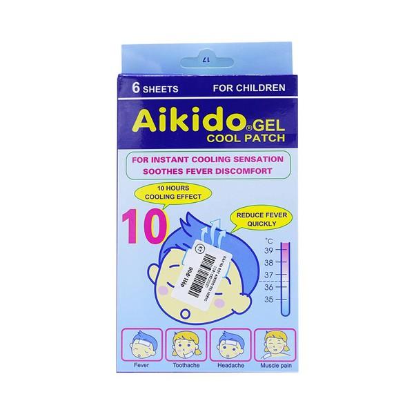 Miếng dán hạ sốt Aikido Gel Cool Patch  hộp 6 miếng