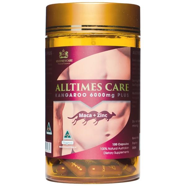 Viên uống tăng cường sinh lý nam Alltimes Care Kangaroo 6000mg Plus lọ 30 viên