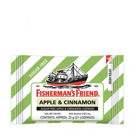 Kẹo ngậm con tàu  Fisherman's Friend Apple & Cinnamon gói 25g