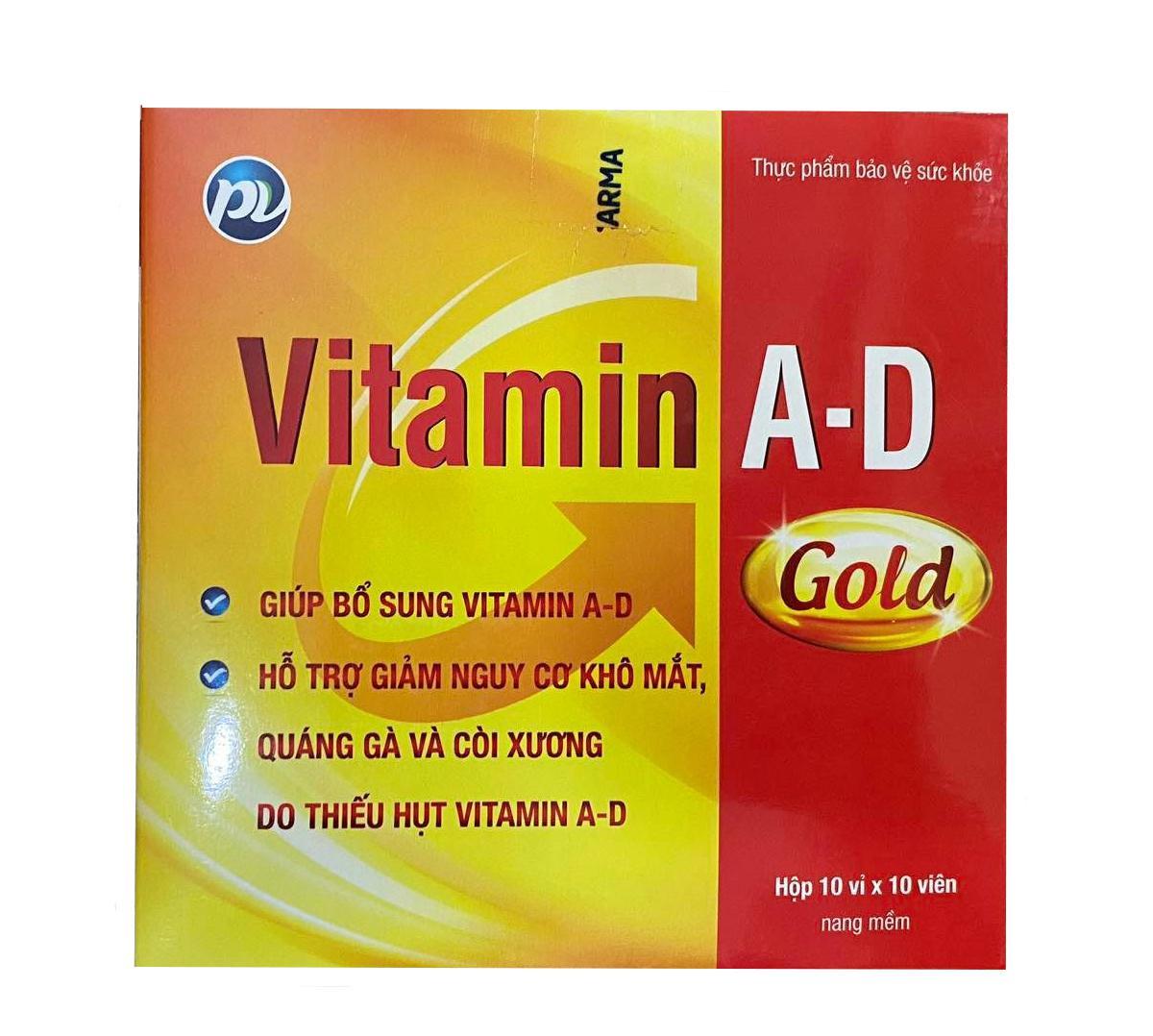 Vitamin A-D Gold hộp 100 viên
