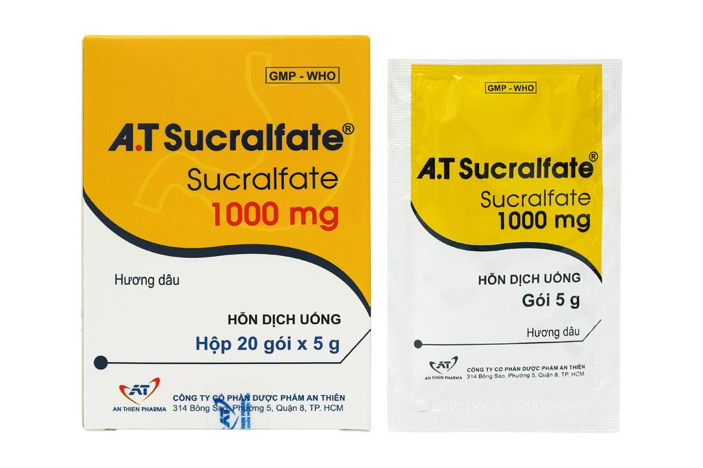 A.T Sucralfate 1000mg hộp 20 gói