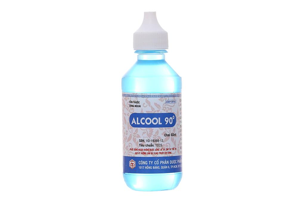 Cồn xanh Alcool 90 độ OPC chai 60ml