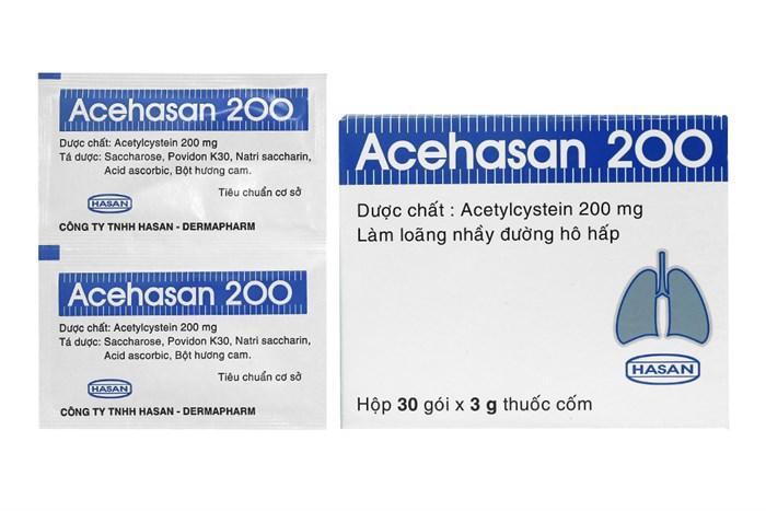 Thuốc cốm long đờm Acehasan 200 hộp 30 gói x 3g