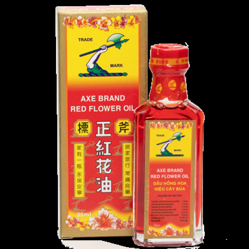 Dầu Hoa Hồng Hiệu Cây Búa (Axe Brand Red Flower Oil) hộp 1 chai 35ml
