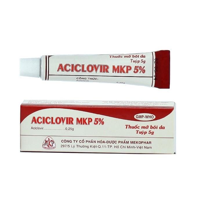 Kem bôi kháng virus Aciclovir MKP 5% hộp 1 tuýp 5g