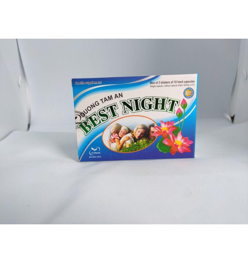 Thực phẩm bảo vệ sức khỏe Dưỡng Tâm An Best Night hộp 3 vỉ x 10 viên